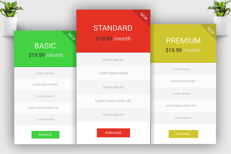 Minimal Pricing Table example image 3