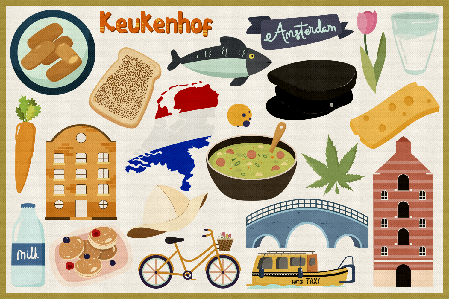Netherlands Vector Clipart and Seamless Pattern example image 4