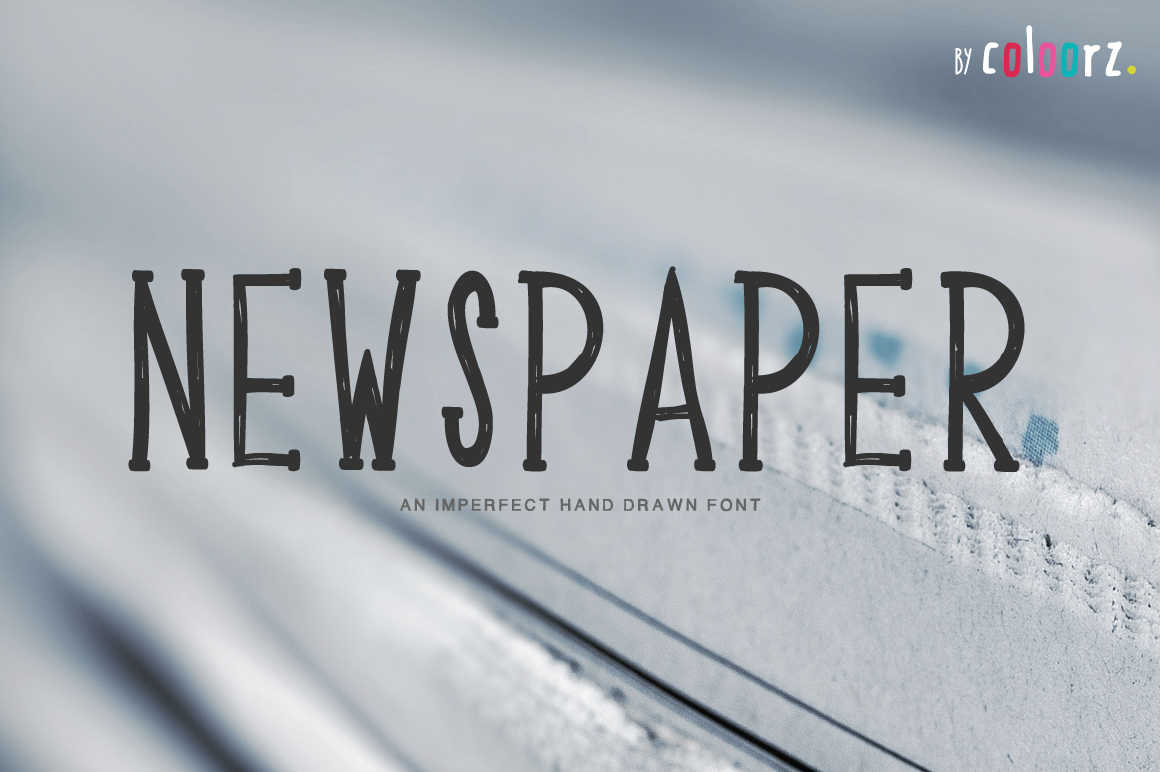 NEWSPAPER hand drawn font example image 1