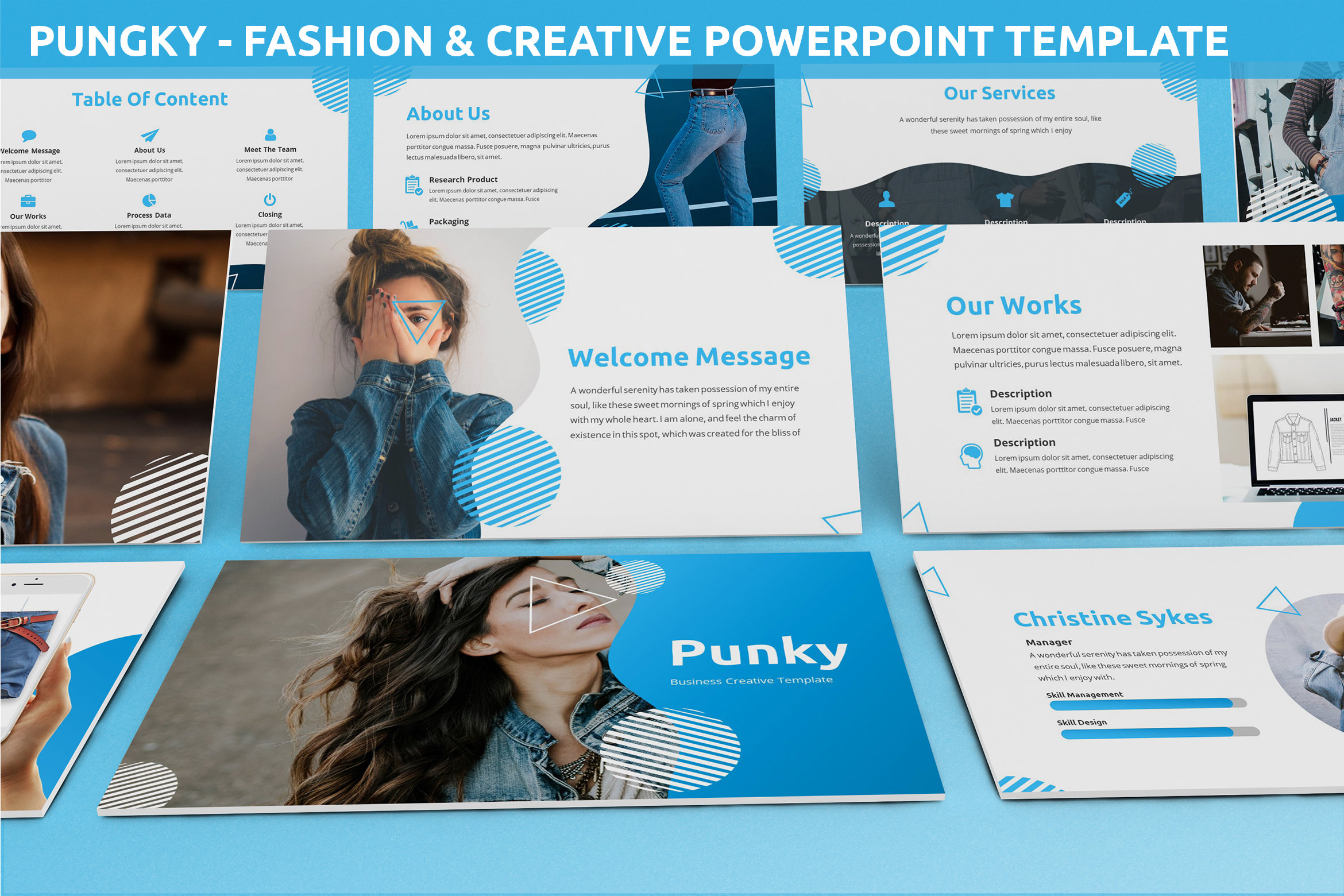 Pungky - Fashion & Creative Powerpoint Template example image 1