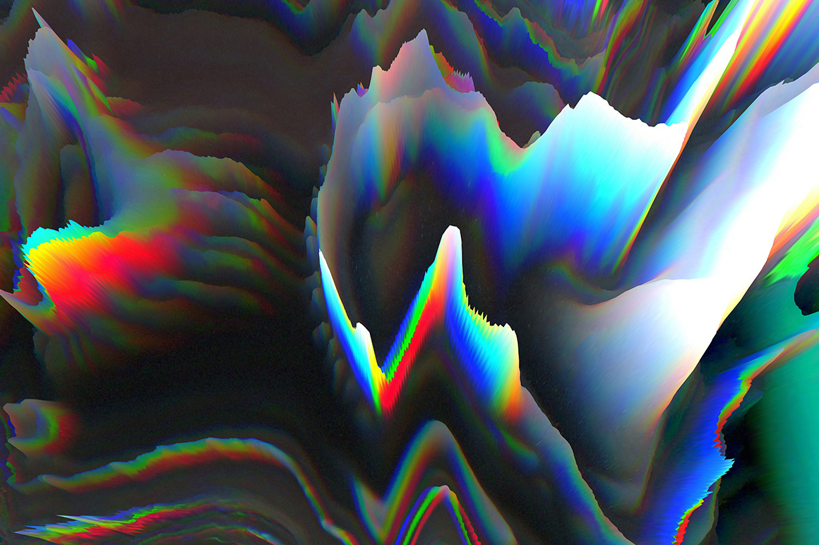 3D Glitch Backgrounds example image 2