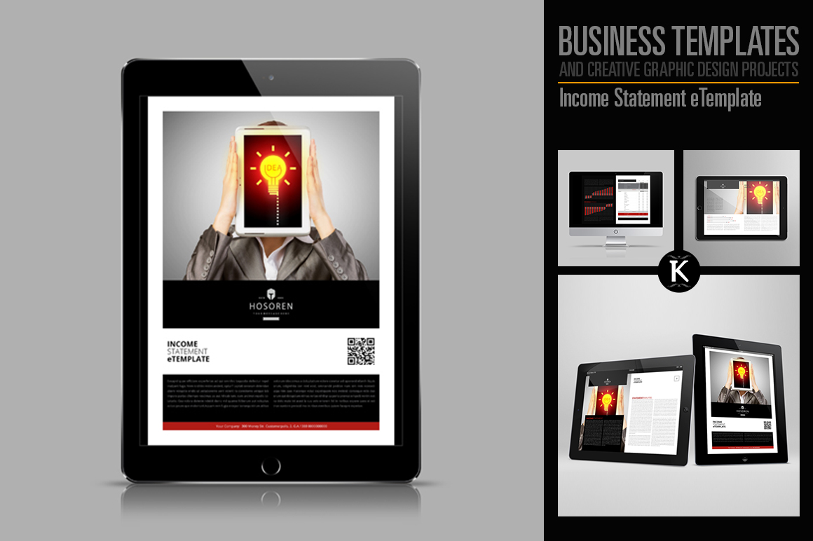 Income Statement eTemplate example image 1