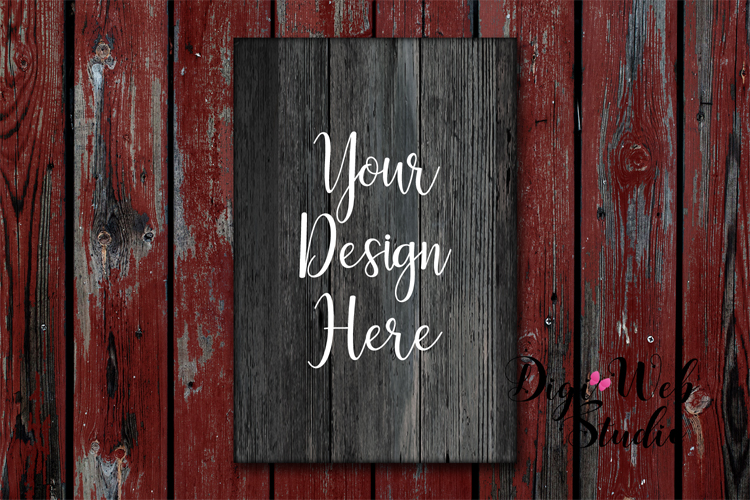 Wood Signs Mockup Bundle - 9 Piece Farmhouse Wood Signs 2 example image 7