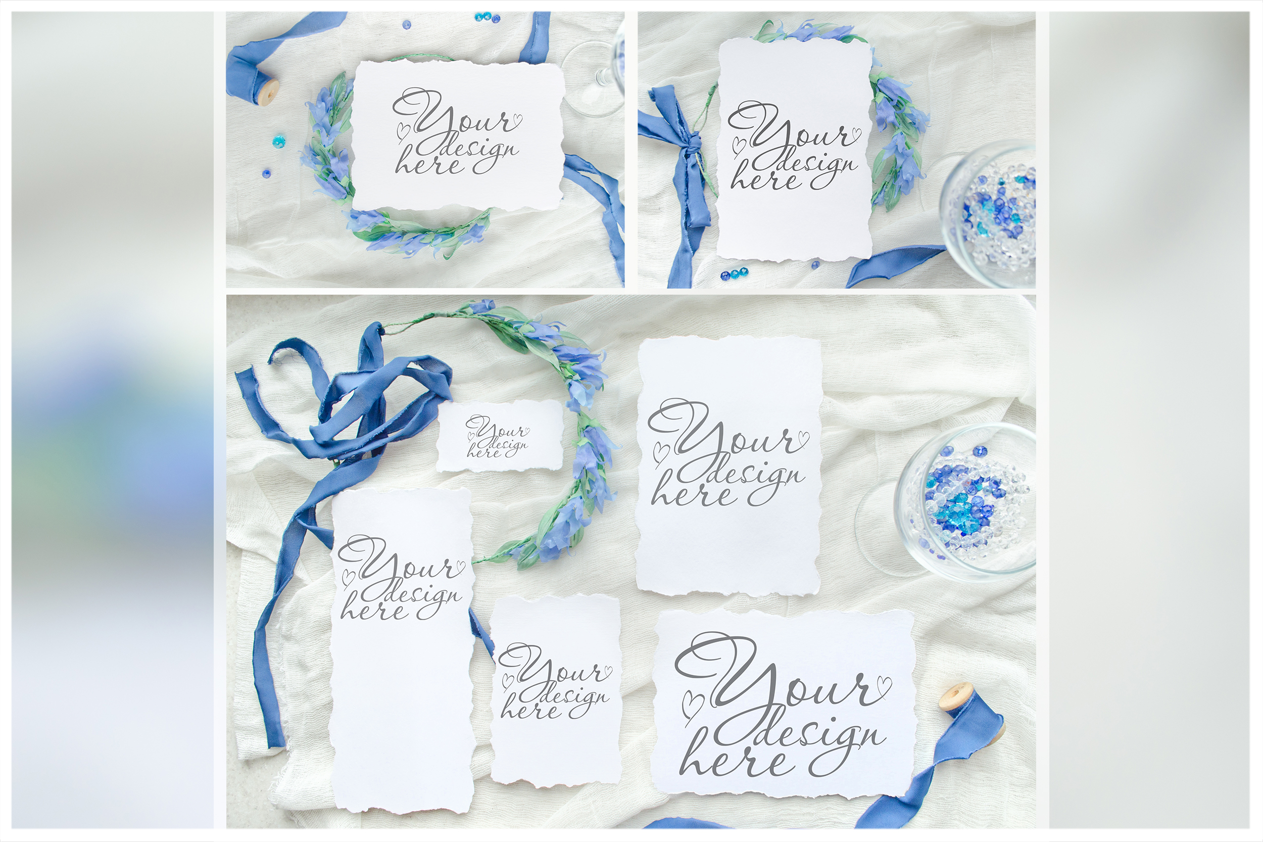Something blue. Wedding mockups & stock photo bundle example image 16