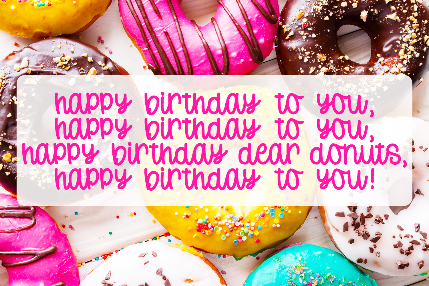 Donut Worry - Hand lettered crafting font example image 4
