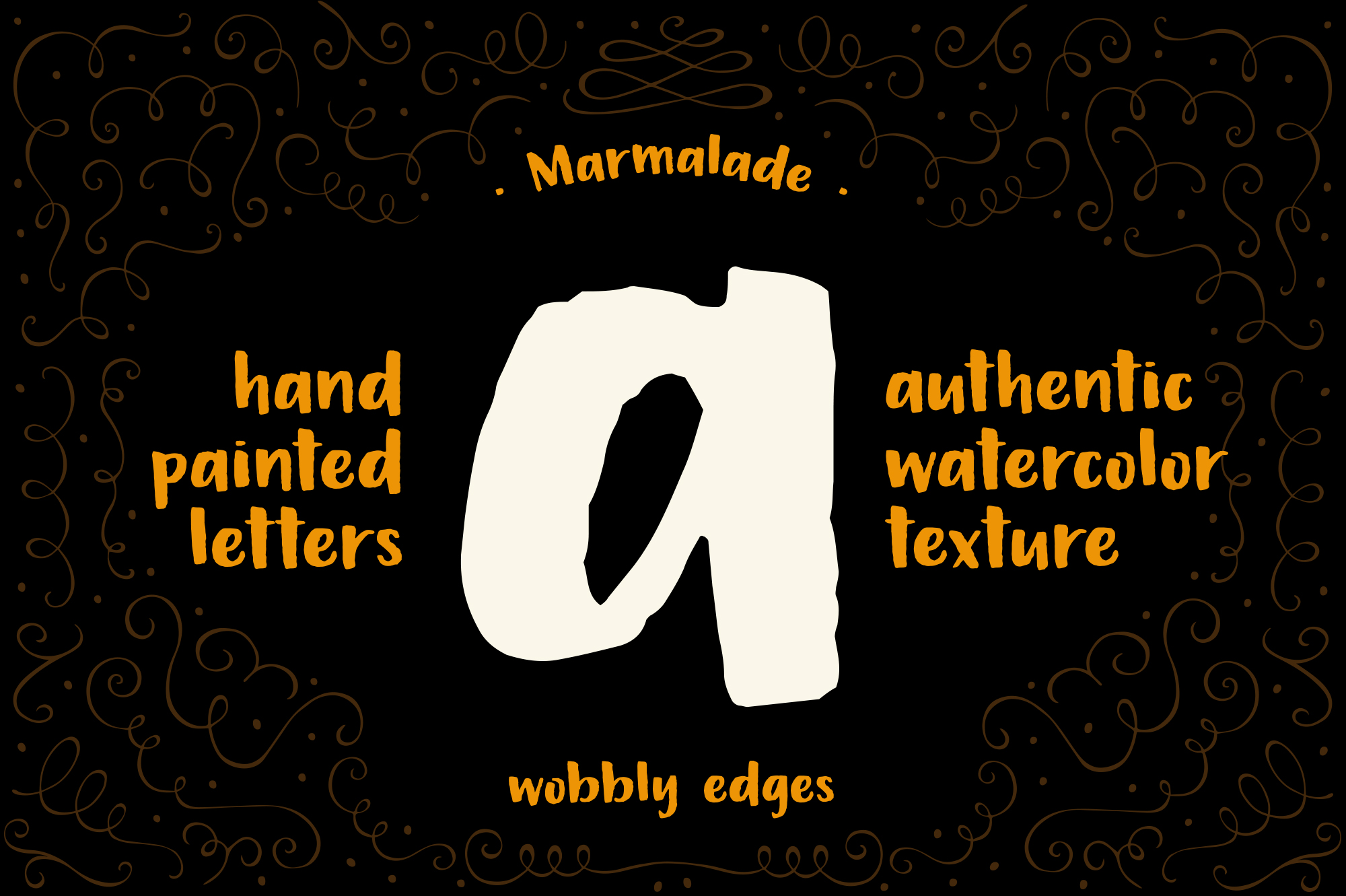 Marmalade, a hand painted font example image 2