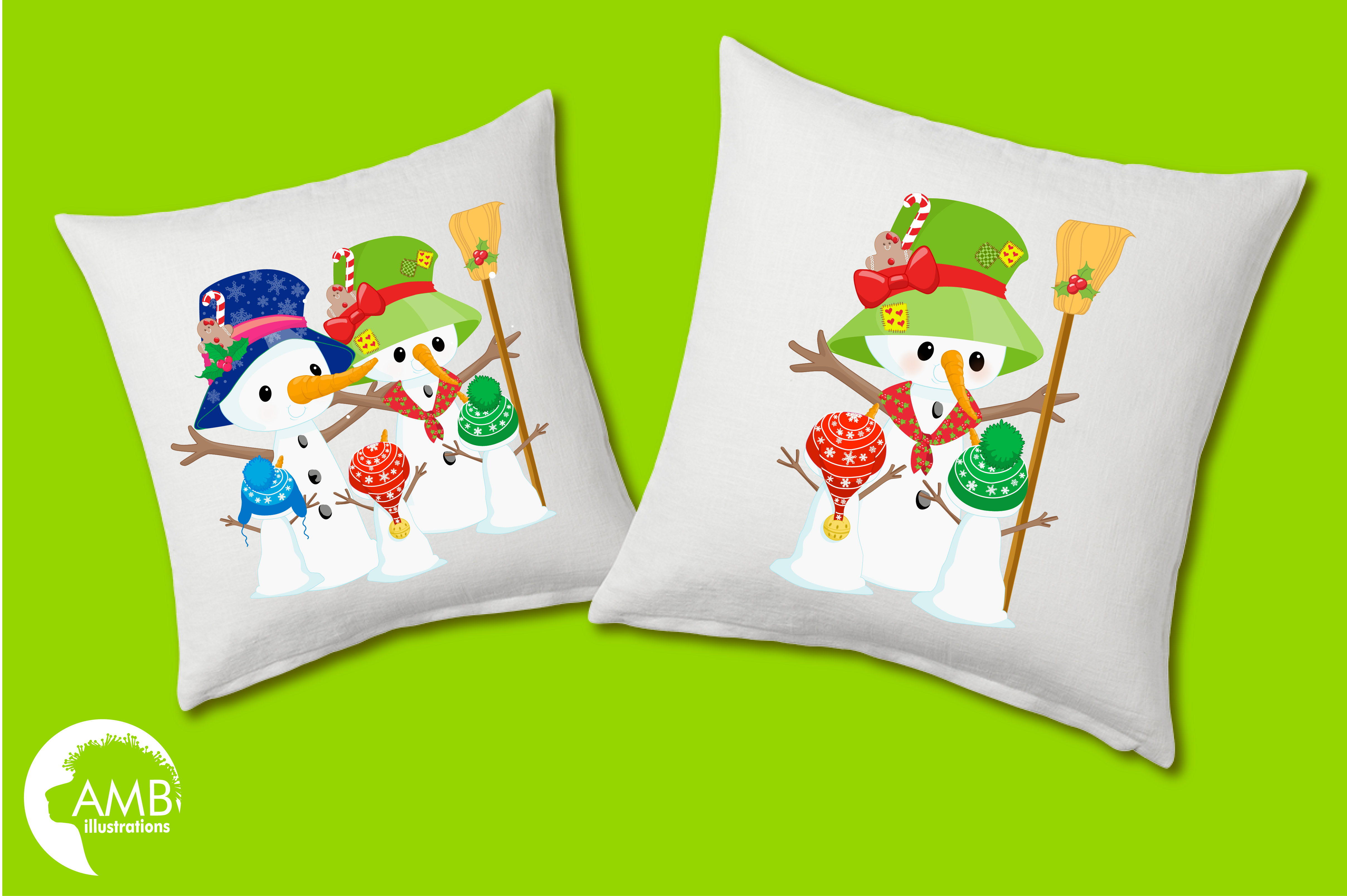 Snowman Clipart, Christmas Clipart, Frosty the Snowmen Clipart, Snowman Family, Snowman Clipart, AMB-1512clipart, graphics, illustrations AMB-1512 example image 5