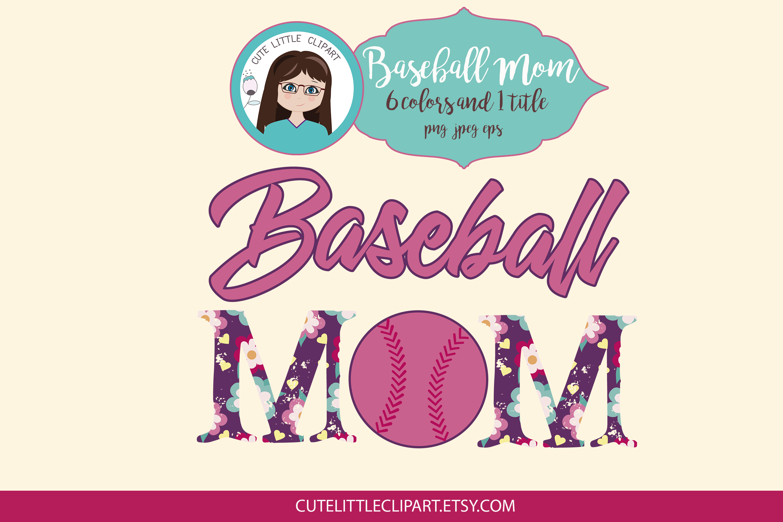 Baseball Mom clipart example image 2