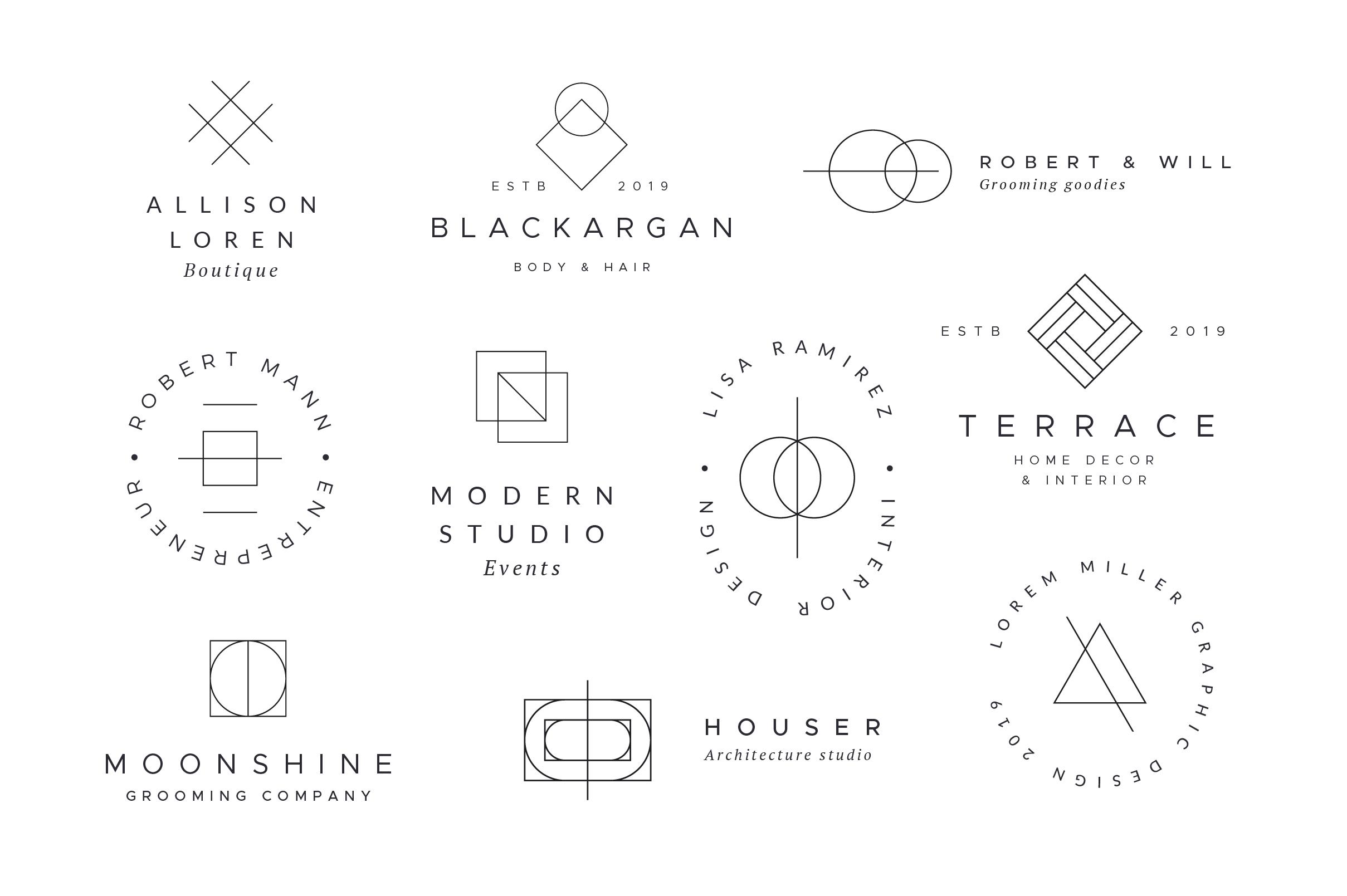 Minimal Geometric Logos - Volume 2 example image 5