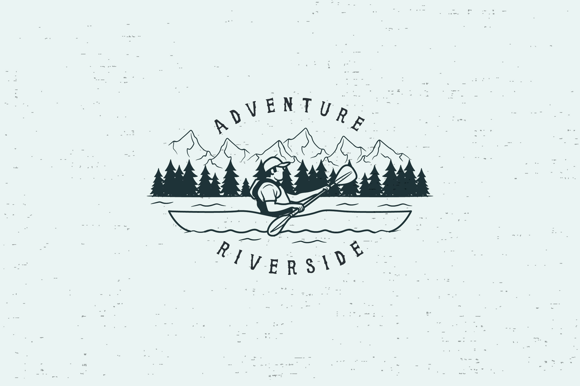 ADVENTURE RIVERSIDE - LOGO TEMPLATE example image 1