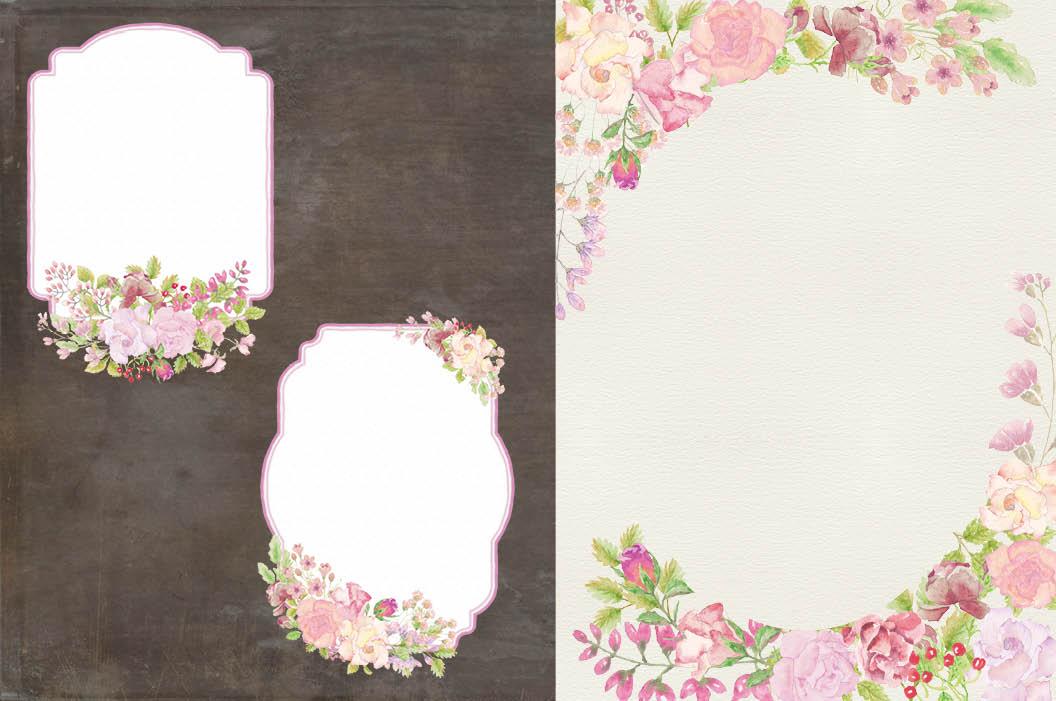 Wedding clip art bundle in blush roses example image 7