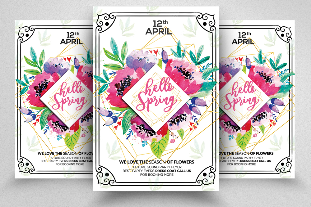SpringvFlyer Template example image 1