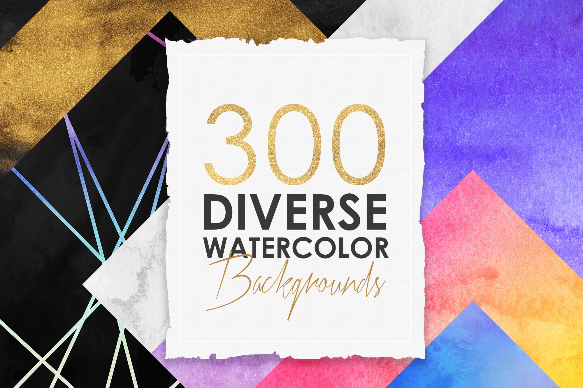 300 Diverse Watercolor Backgrounds example image 1