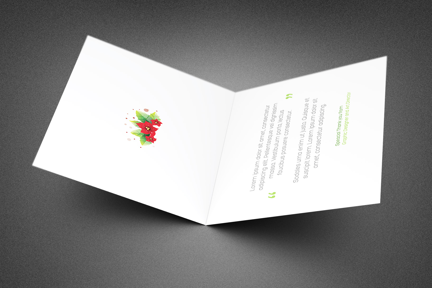 Christmas Ornament Thank You Card example image 2