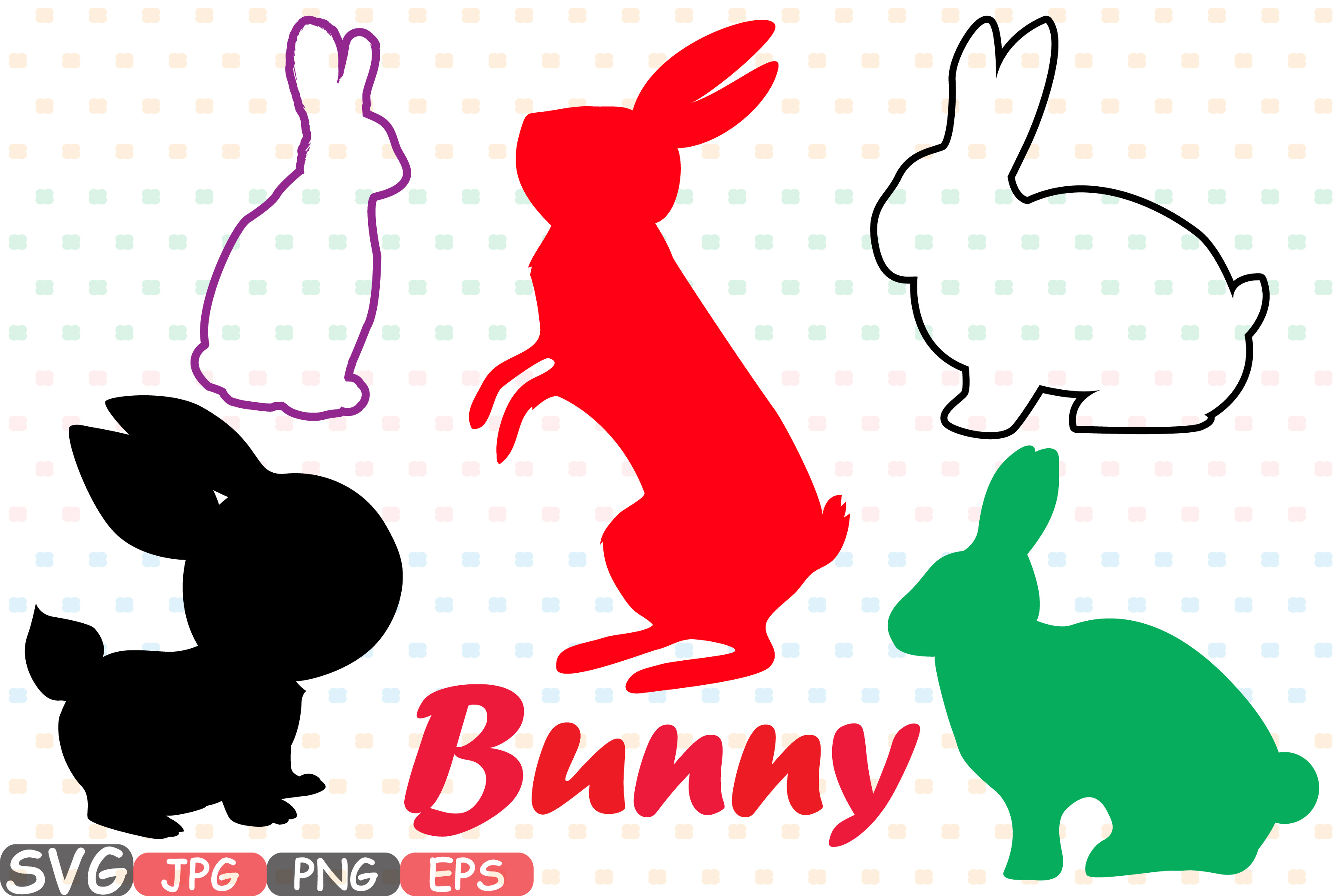 Easter bunny SVG shirt bunny ears outline frame 635S example image 1