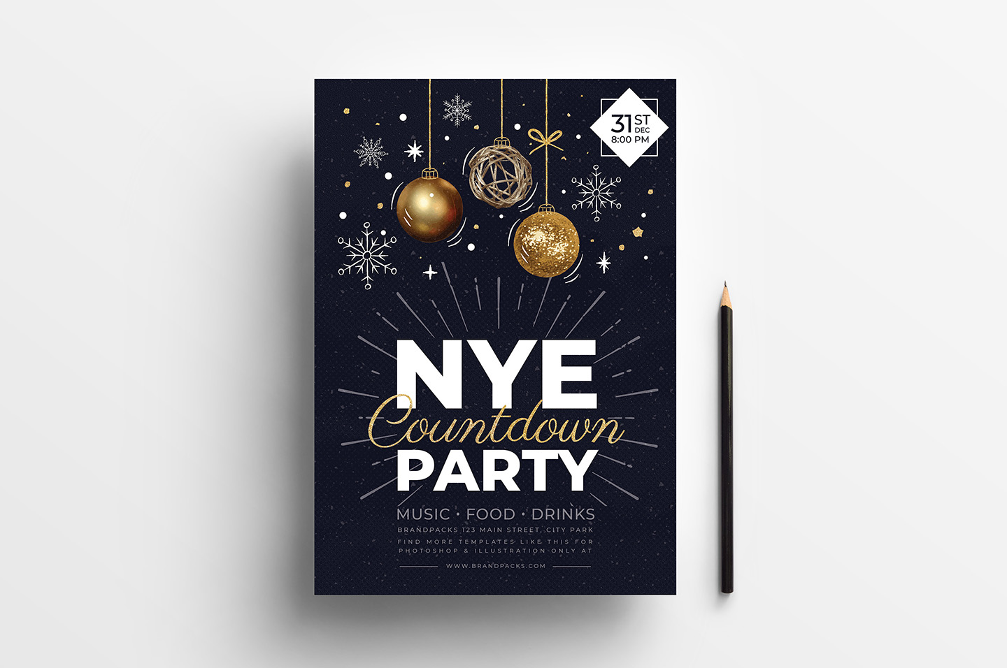 NYE Party Flyer/Poster example image 2