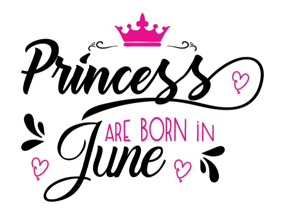 Princess are born in June Svg,Dxf,Png,Jpg,Eps vector file example image 1