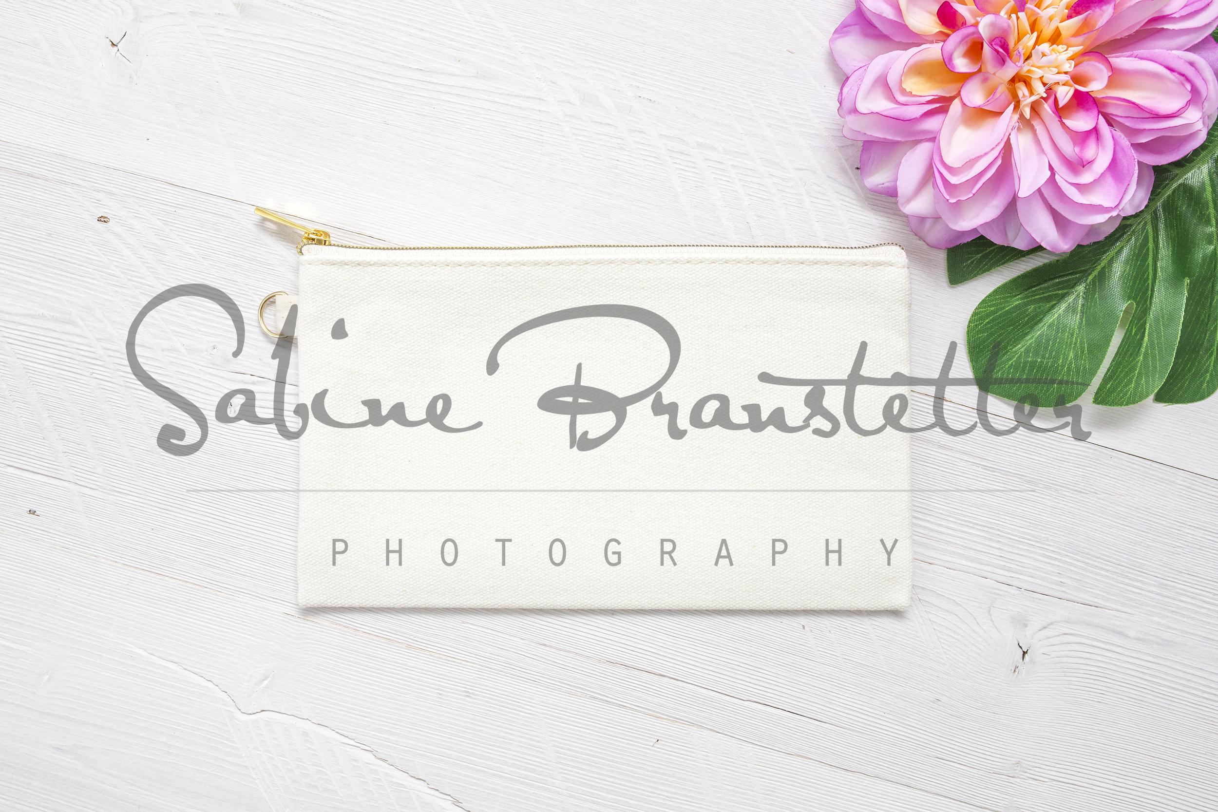 Styled Stock Photography Makeup Bag Mockup example image 1