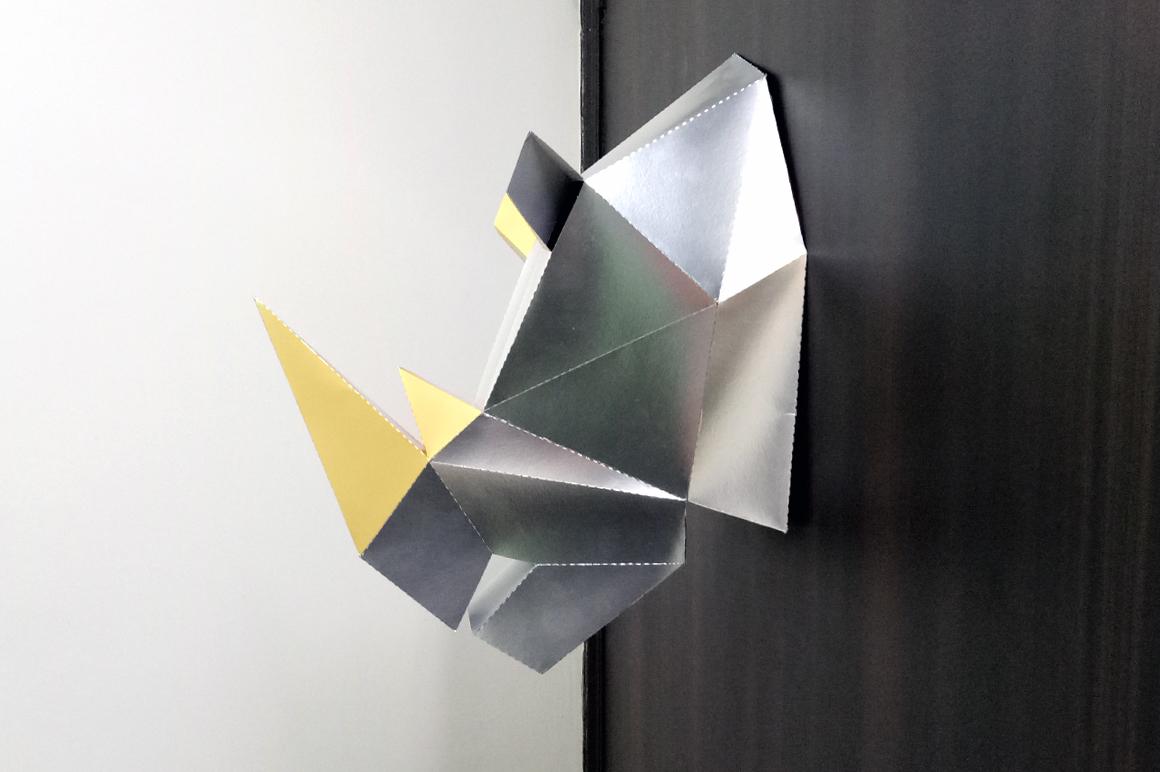DIY Rhinoceros Head - 3d papercraft example image 3