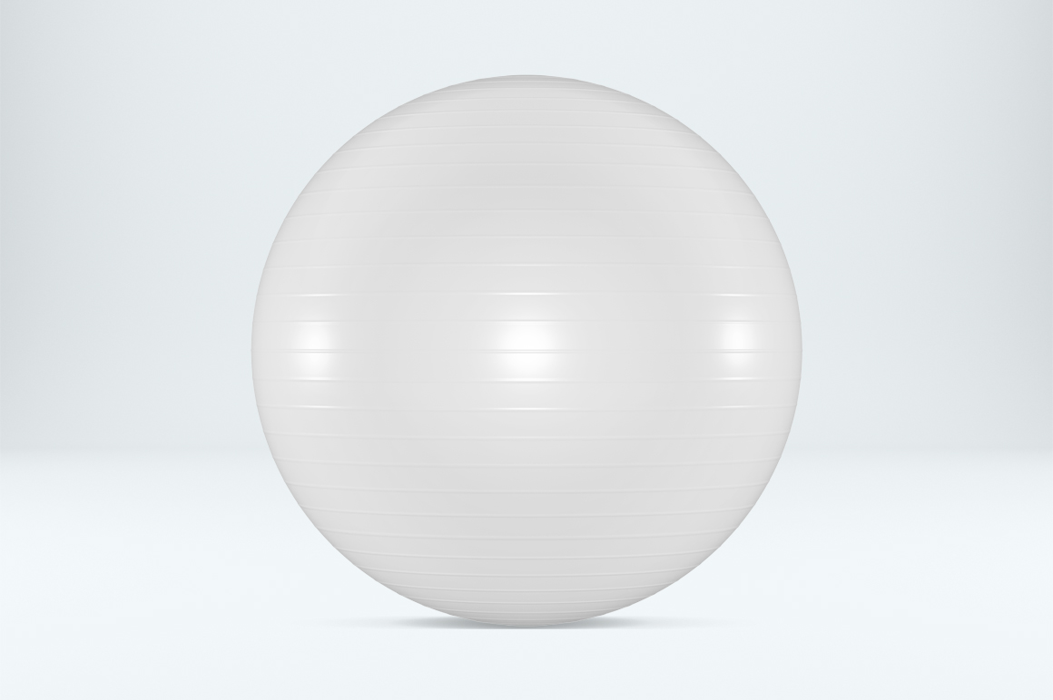 Fitness ball mockup. Exercise ball. Product mockup. example image 3