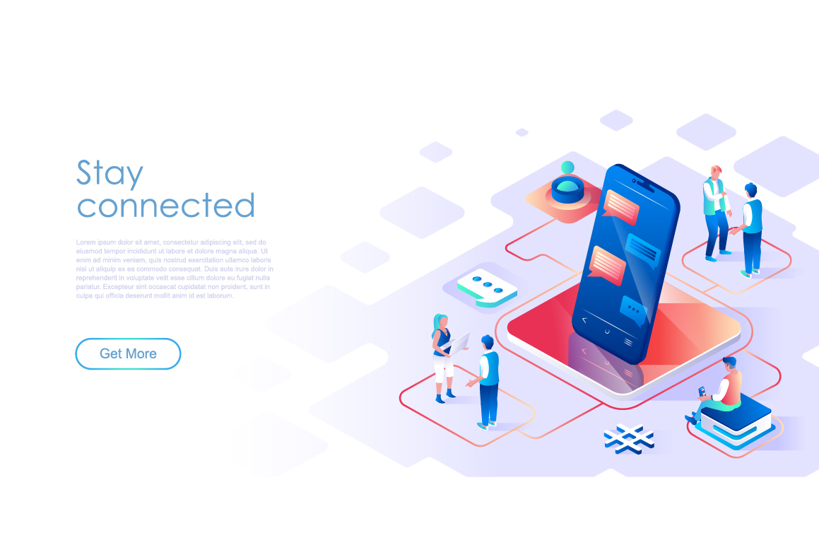 Bundle Isometric Landing Page Template Header example image 18