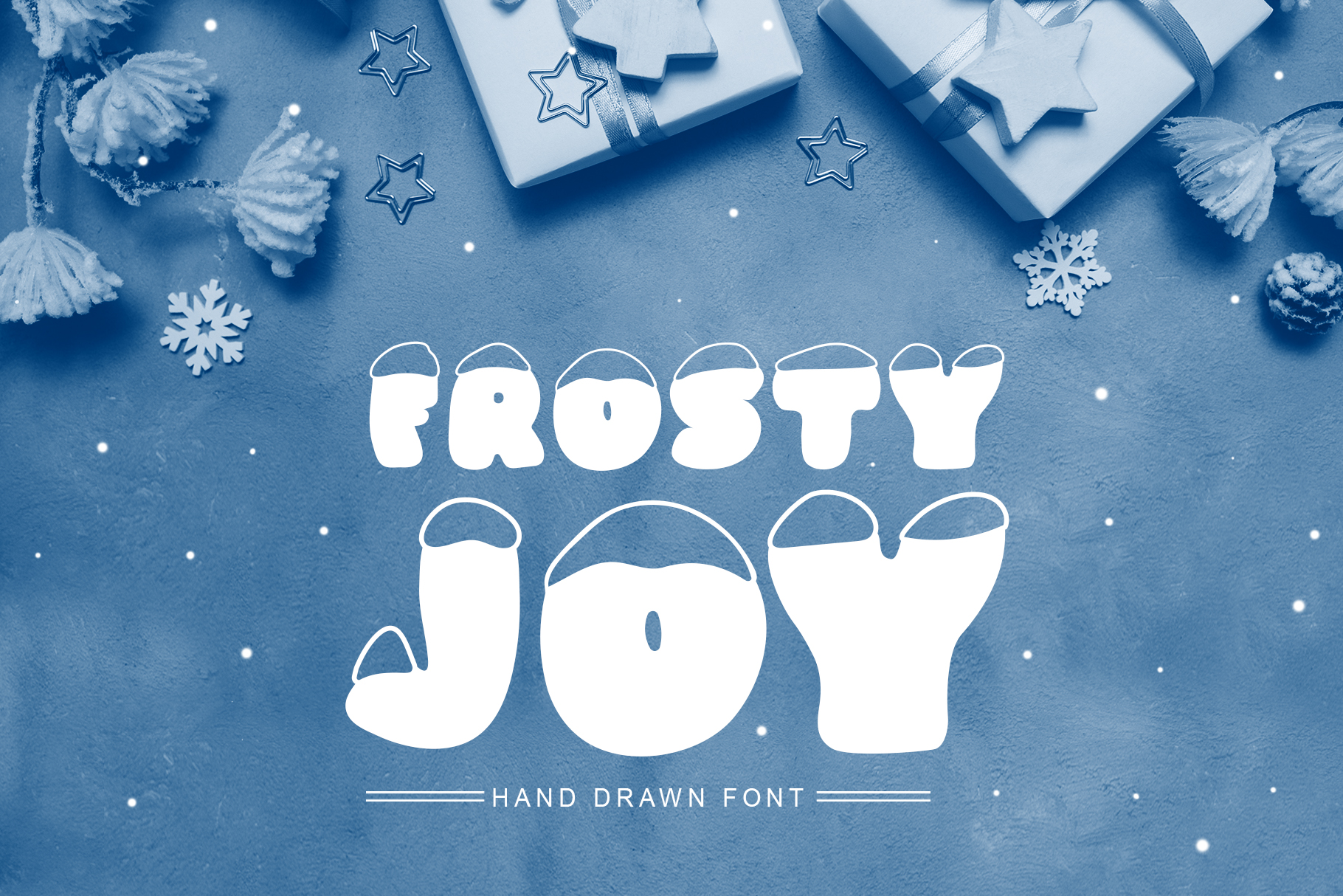 Frosty Joy Hand Drawn Display Font example image 1