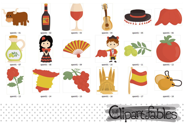 SPAIN clip art, European theme clipart - Instant Download example image 2