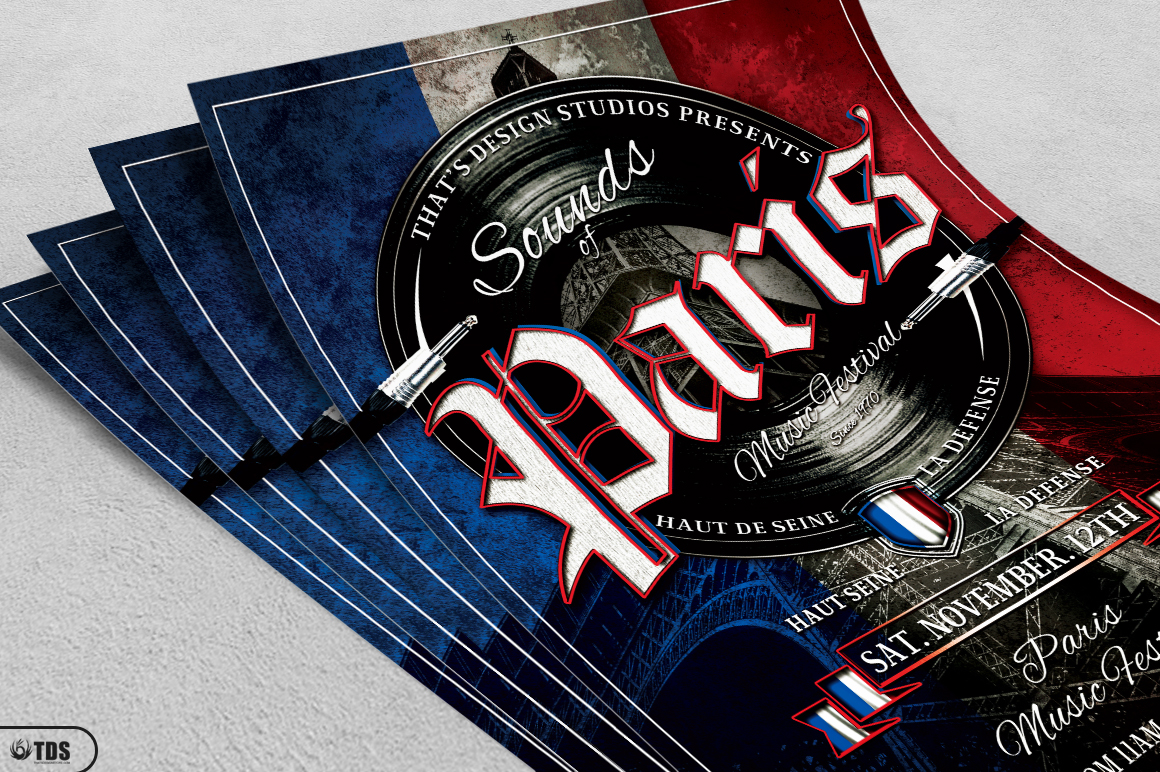 Sounds of Paris Flyer Template example image 3