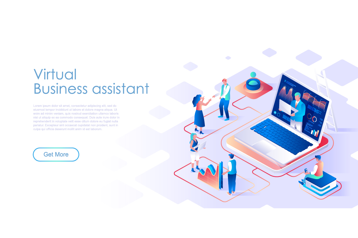 Bundle Isometric Landing Page Template Header example image 12