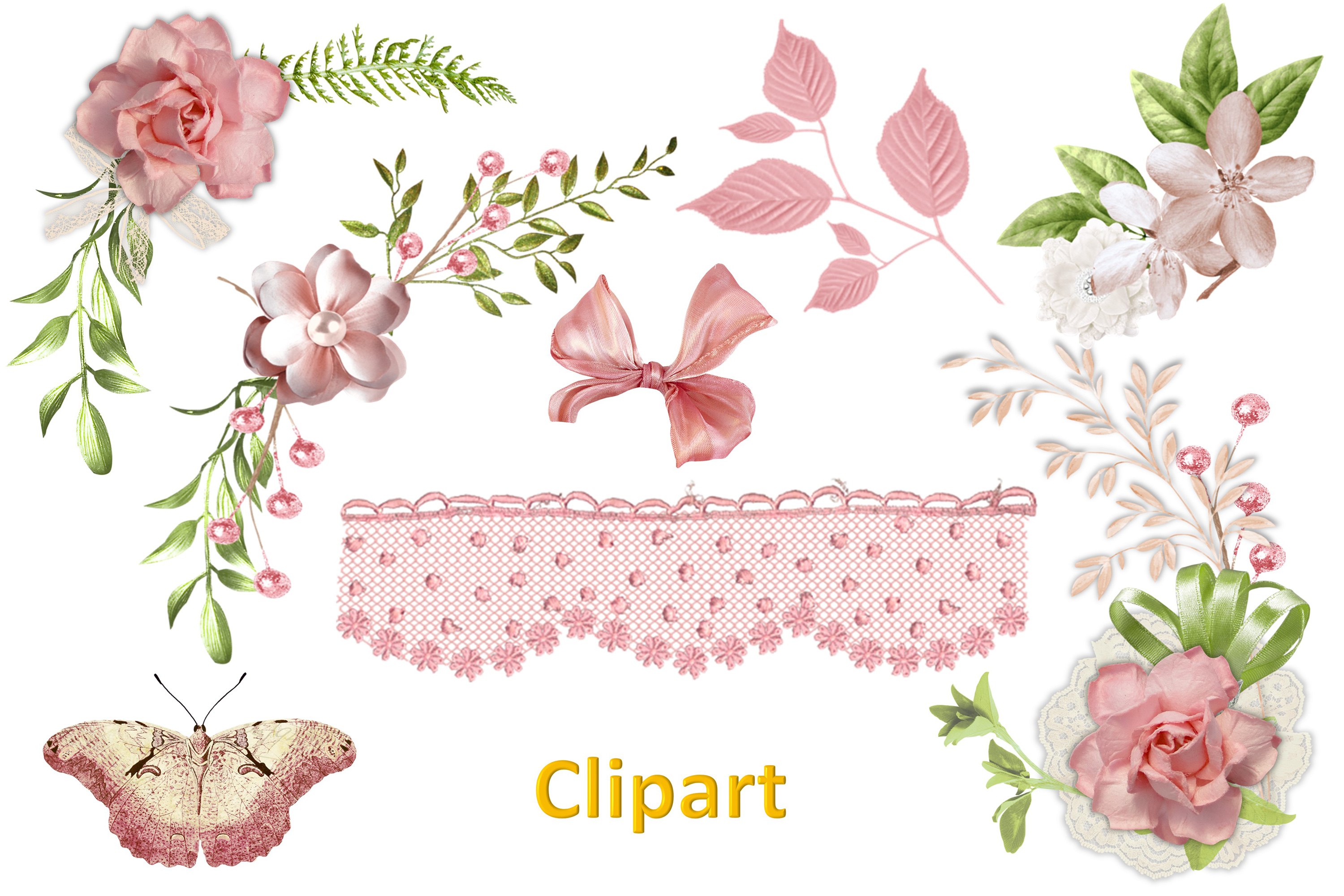 Shabby Chic Vintage backgrounds, Ephemera and Clipart Pmgs example image 11