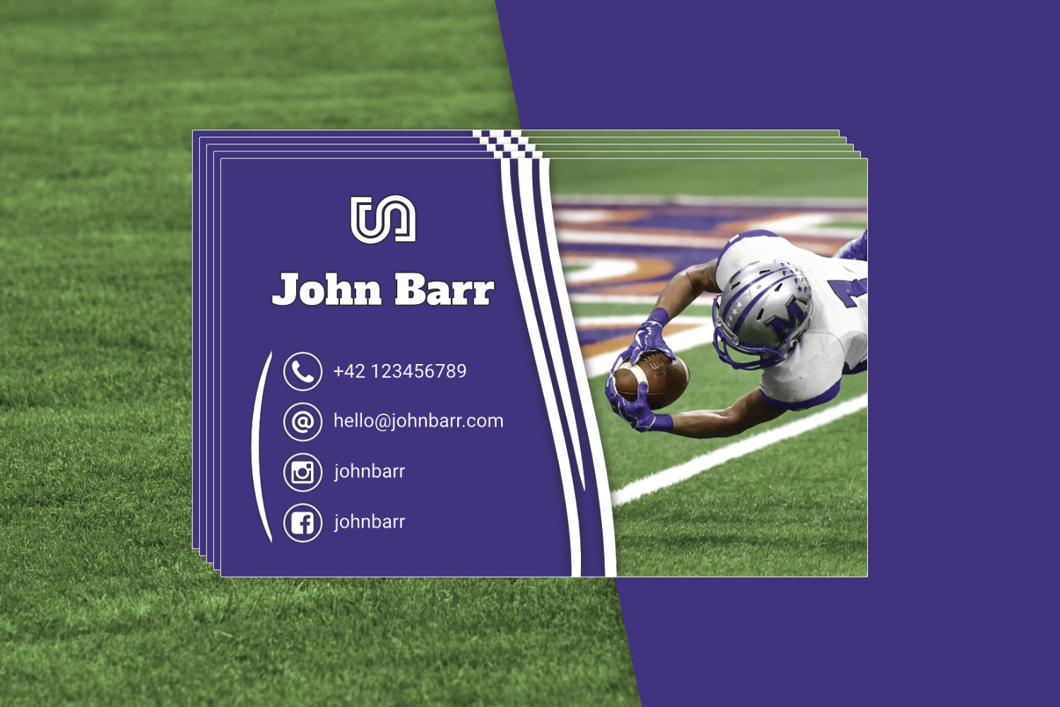 12 Sport Business Card Templates example image 7
