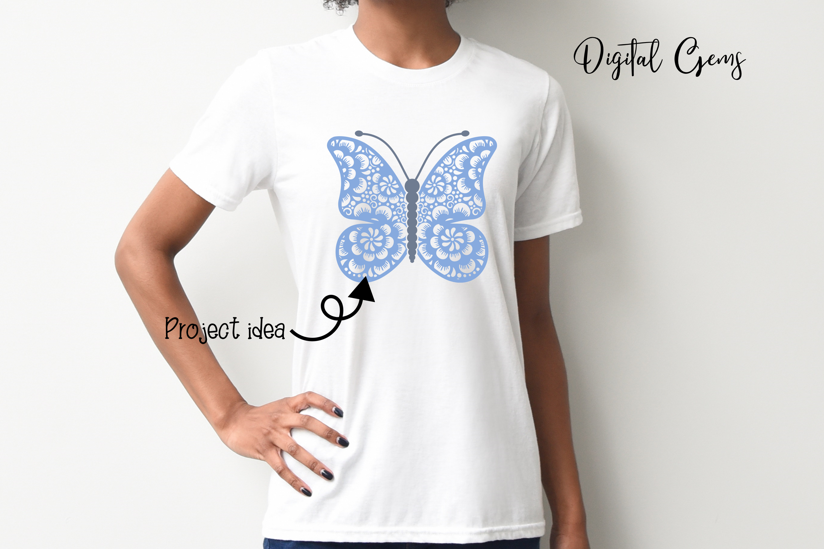 Butterfly SVG / DXF / EPS / PNG files example image 5