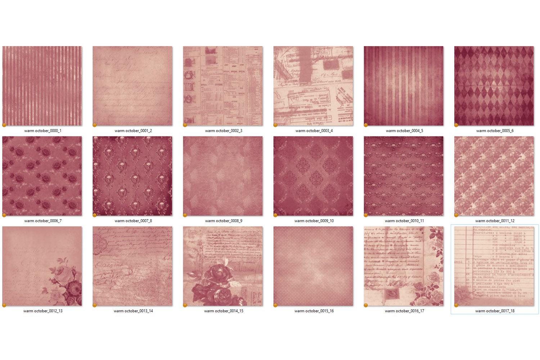 Warm October Textures - Vintage Digital Paper example image 5