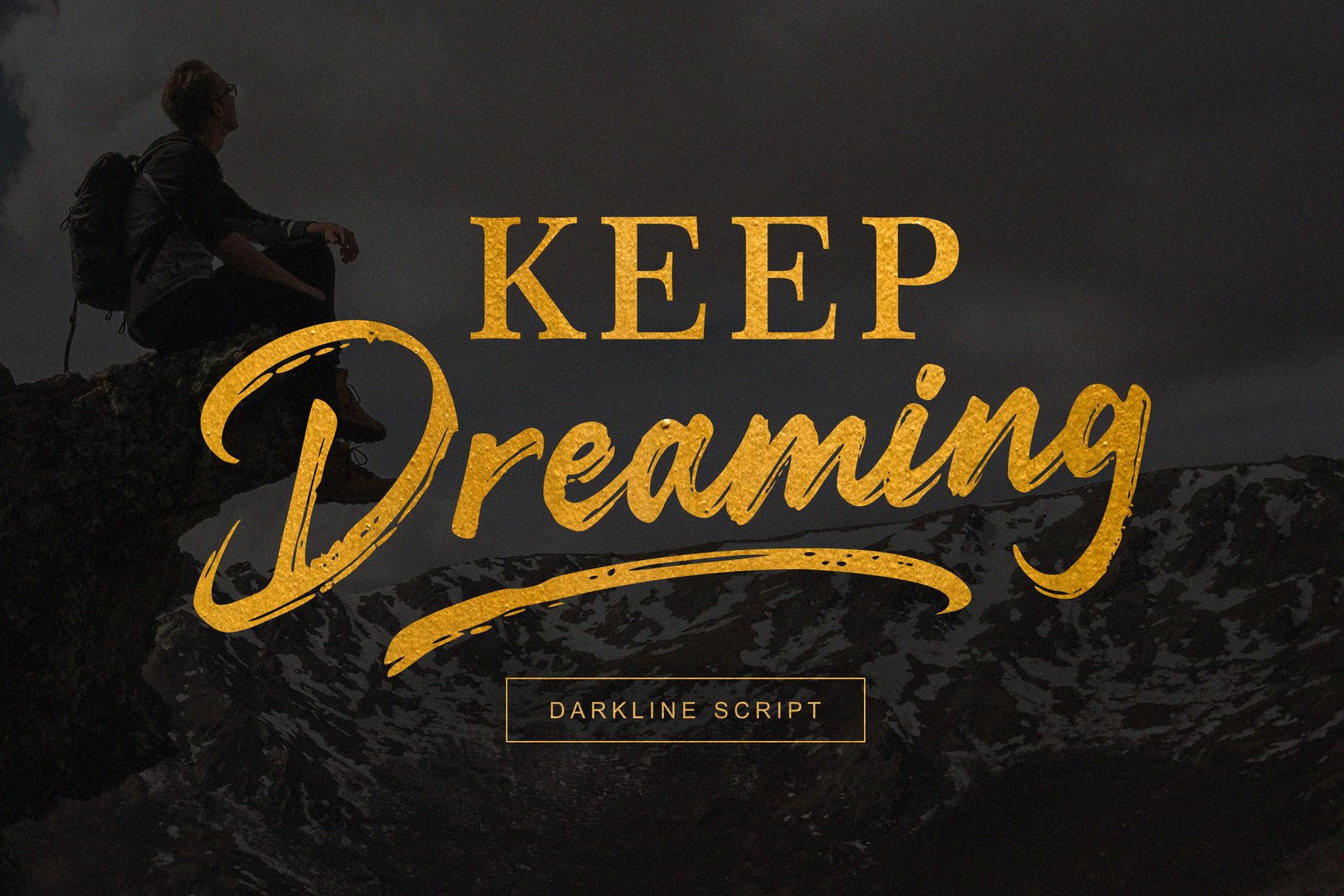Darkline Brush Script Font example image 7