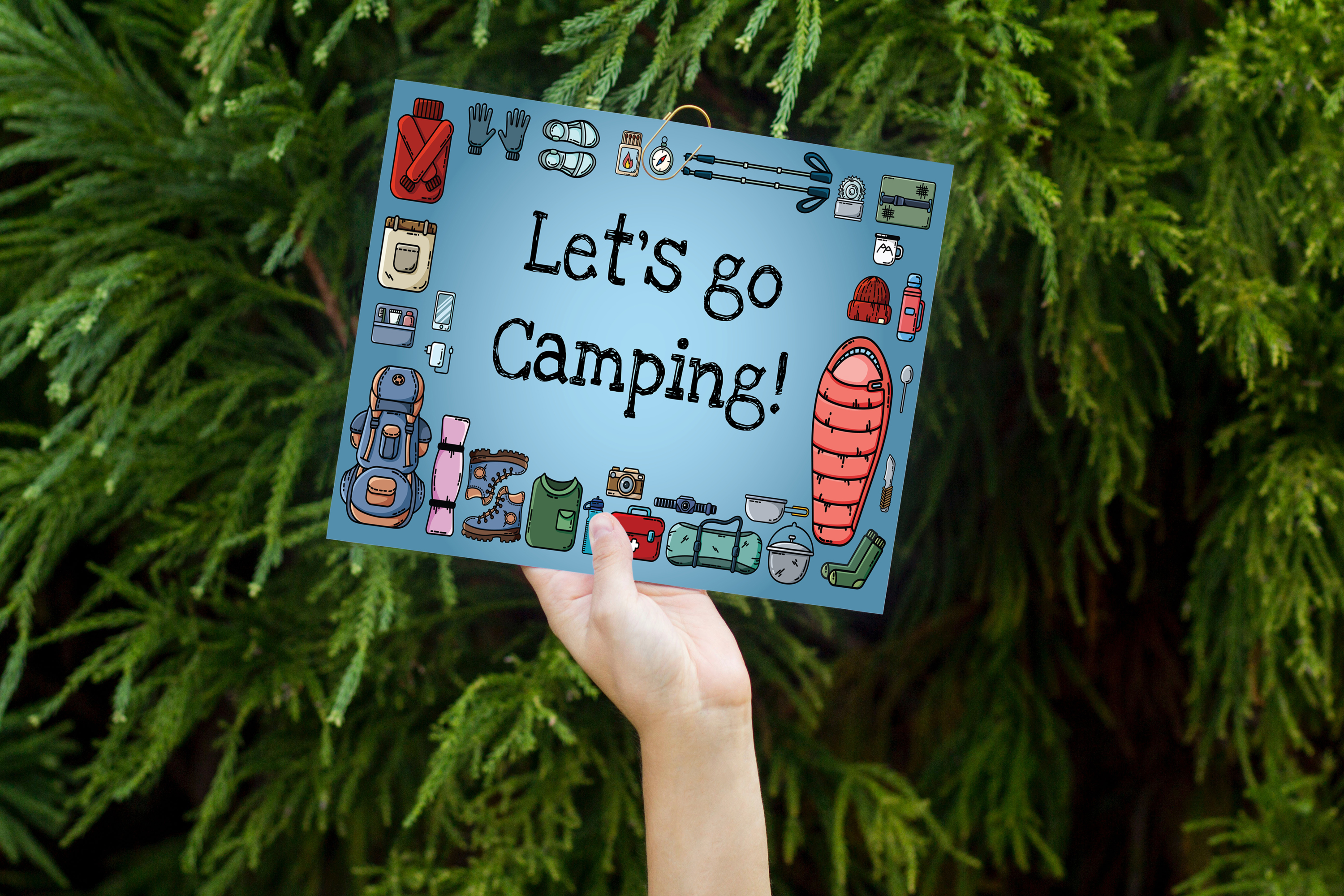 Let's Go Camping Icons Set example image 2