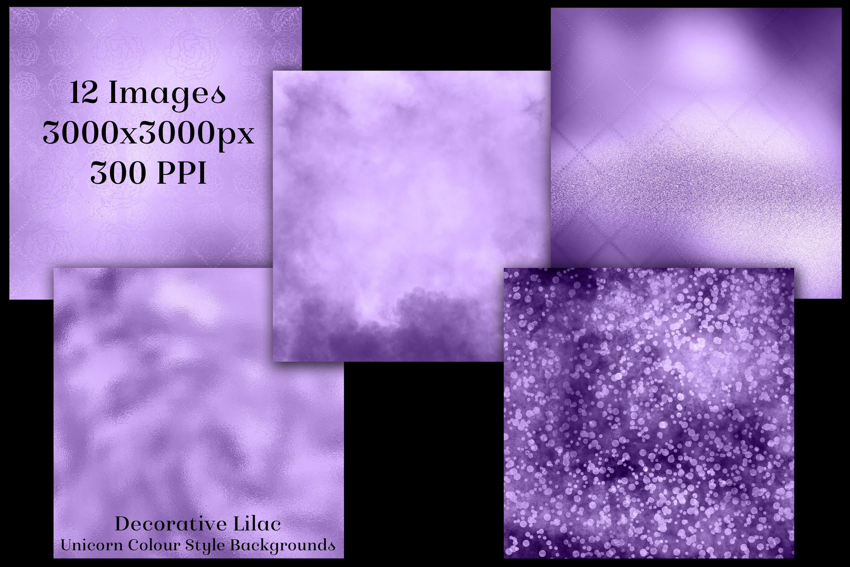 Decorative Lilac Unicorn Colour Style Backgrounds Textures example image 2