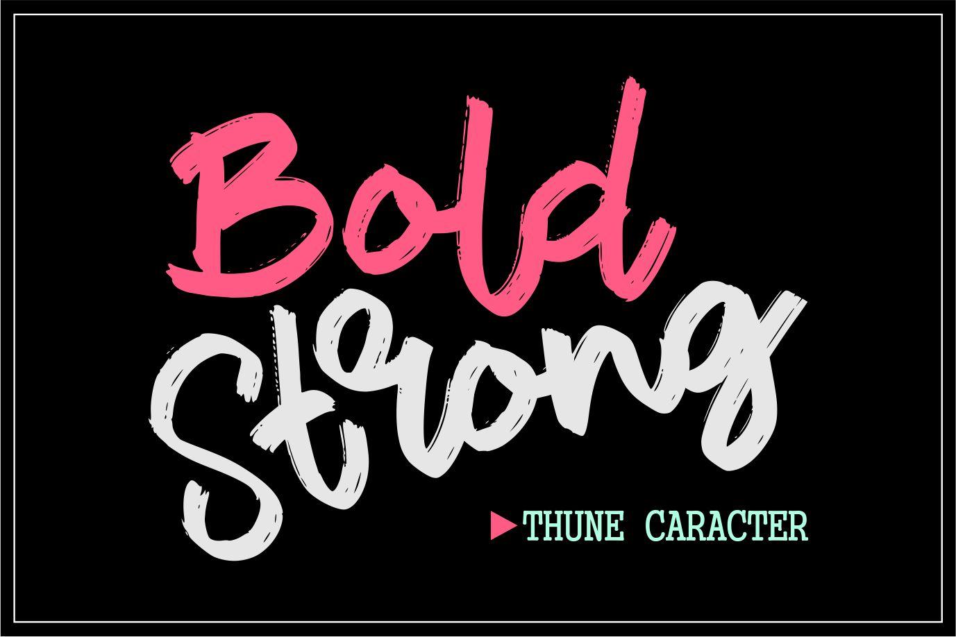 Thune | Bold Brush Font example image 2