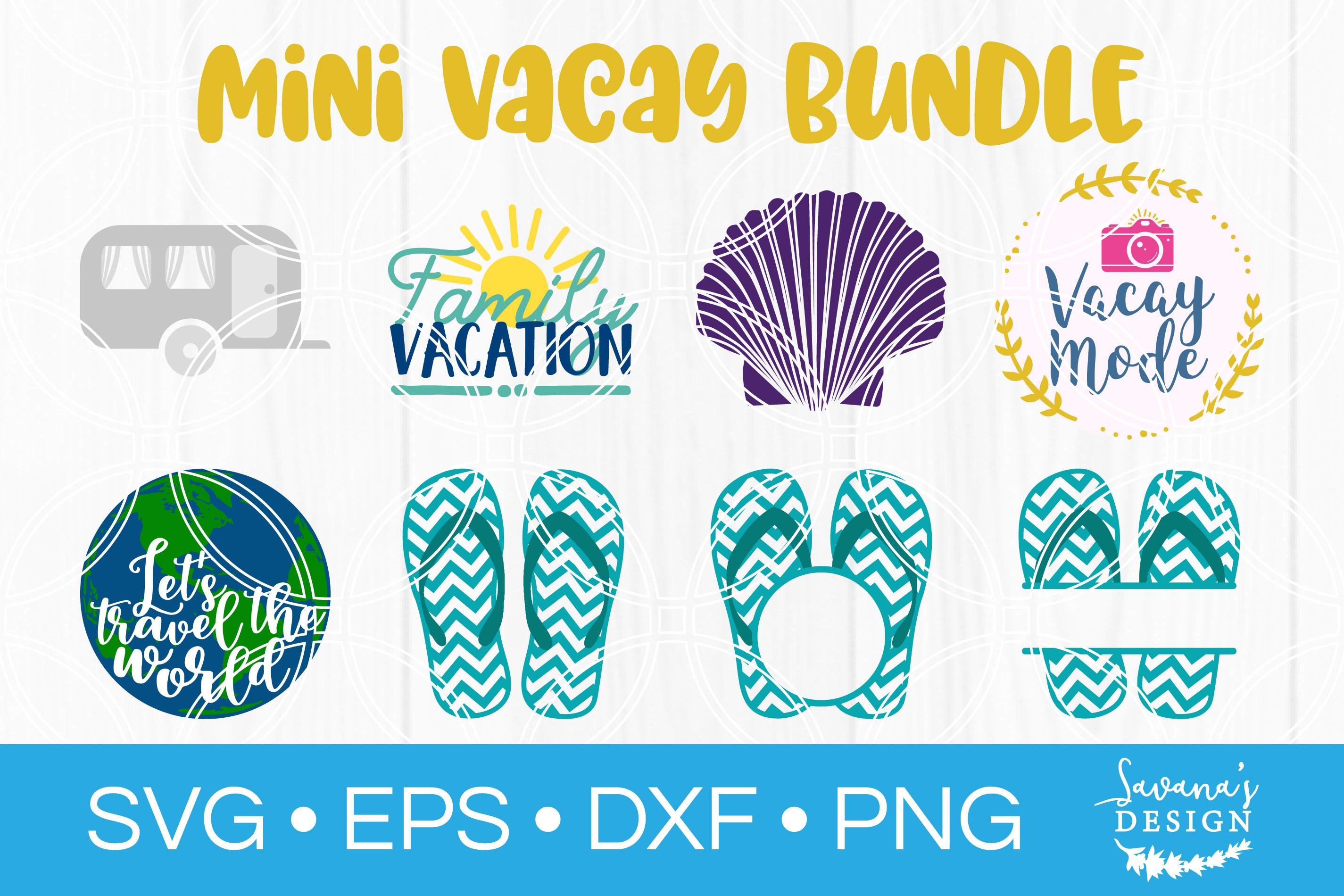 Mini Vacay SVG Bundle Vacay SVG Vacation SVG Flip Flops example image 1
