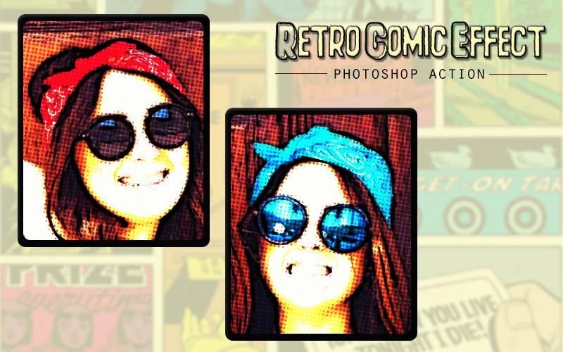 Retro Comic Photoshop Action example image 2