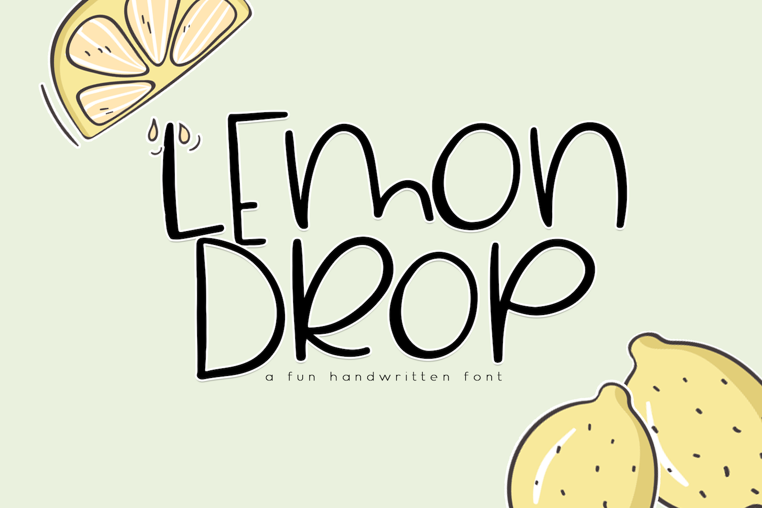 Lemondrop - A Cute and Quirky Font example image 1