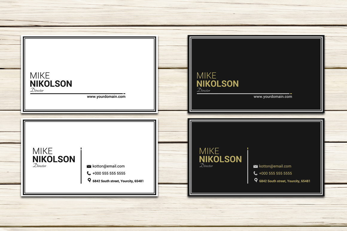 Clean Modern Business Card example image 1