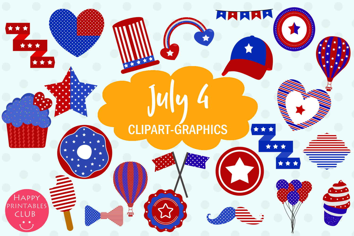 40 July 4 Clipart Graphics-Patriotic Clipart-4 July Clipart example image 1