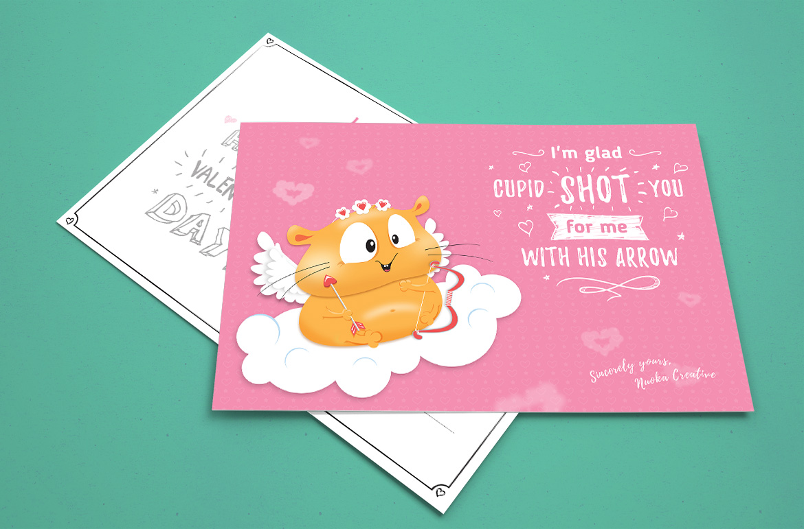 70 Valentine's Day greeting cards - Hamster Edition example image 7