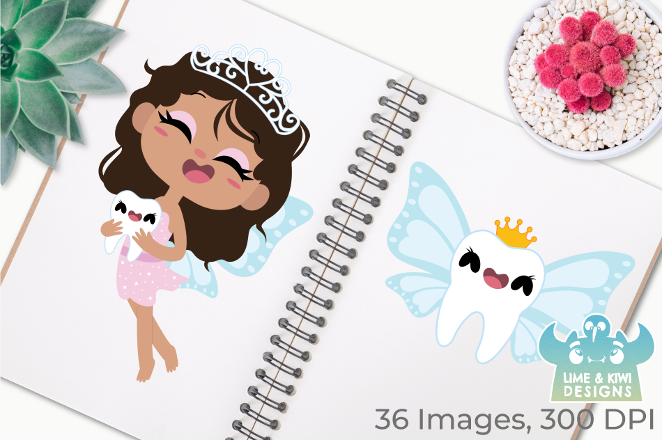 Tooth Fairy Clipart, Instant Download Vector Art example image 3