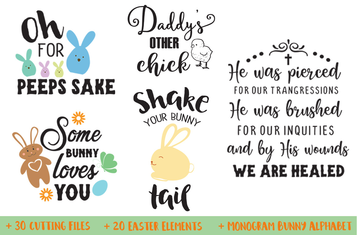 The Easter Bundle - 30 Cutting Files and Extras! example image 3