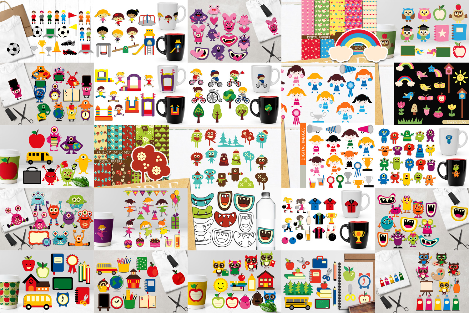 Back To School Clip Art Huge Bundle - Over 350 Graphics example image 2