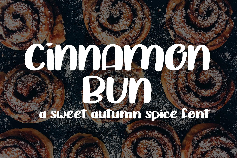 Cinnamon Bun - A sweet, handwritten font example image 1