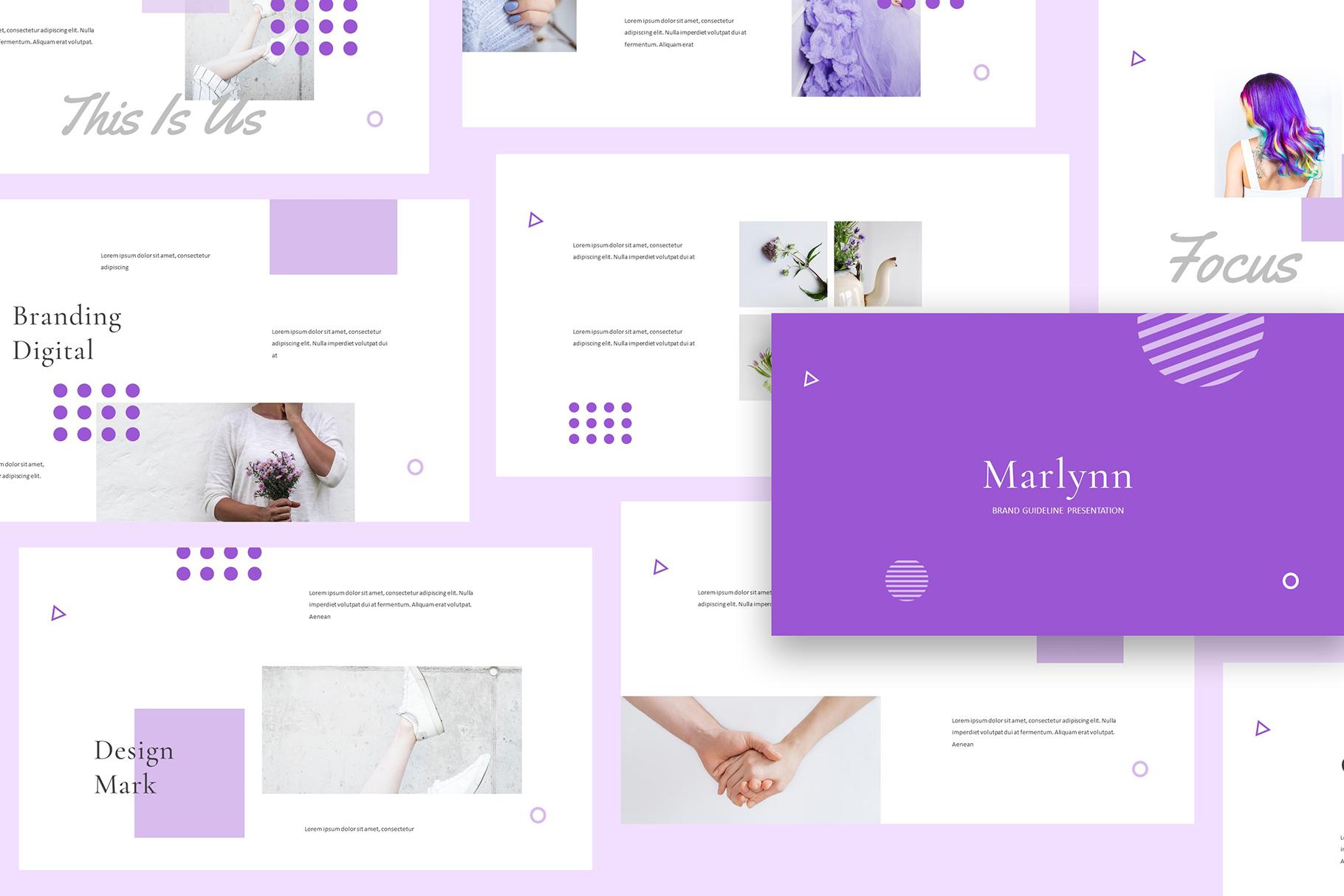 Marlynn Brand Guidelines Keynote example image 3