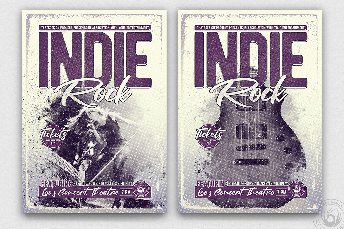Indie Rock Flyer Template V3 example image 1
