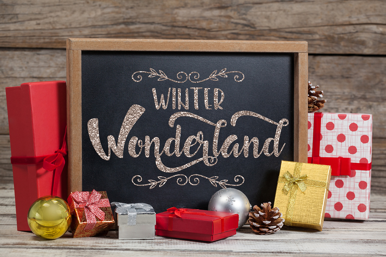 Christmas bundle Let it snow Merry Christmas Winter svg example image 8